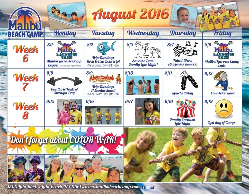 Event Calendar August 2016
