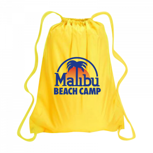 Yellow Camper Drawstring Bag
